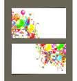 Gift card with place for your text vector image