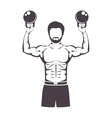 muscle man lifting weights for Crossfit vector image