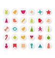Set of Christmas Icons Isolated Flat Style with vector image