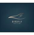 line bird logo Abstract vector image