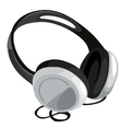 Classic headphone on white background vector image