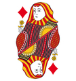 Queen of diamonds no card vector image vector image