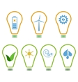 Set of eco logos vector image