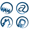 contact web icons vector image