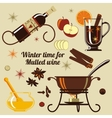 Ingredients for mulled wine vector image