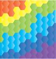 honeycomb rainbow vector image