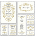 Invitation Templates vector image vector image