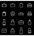 line bag icon set vector image vector image
