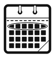 calendar day icon simple black style vector image