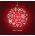 Christmas ball of the Snowflakes vector image
