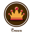 Crown design vector image