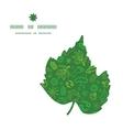 ecology symbols leaf silhouette pattern frame vector image