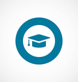 education bold blue border circle icon vector image