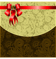 Holiday background with red ribbon vector image