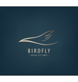 line bird logo Abstract vector image