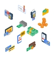 Payment Icons Isometric vector image
