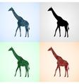 Set from Giraffe with Mandala Patterns vector image