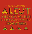tribal aleut alphabet vector image