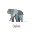 Geometric elephant in polygonal style vector image