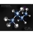 Butane Molecule Image vector image