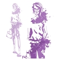 Portrait of trendy look girl vector image