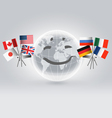 Smiling world globe vector image