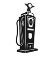 Silhouette of retro gas pump vector image