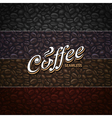 Coffee Seamless Texture vector image