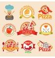 Pizzeria labels set vector image