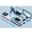 Isometric Gadgets Set vector image