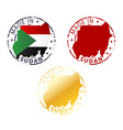 made in Sudan stamp vector image