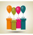 Vintage happy birthday card vector image vector image