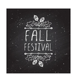 Fall festival - typographic element vector image