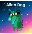 Alien two-headed dog in the sky vector image