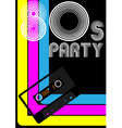 80s party poster vector image