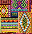 Mexican decor seam vector image