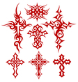 tribal cross fire vector image vector image