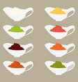 color set icons vector image