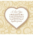 Happy Valentines Day - card vector image
