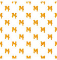 letter m from honey pattern vector image