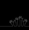 line of hands vector image