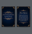 ornate invitation card template vector image