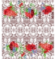 Seamless Patten embroidery traditional style vector image