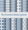 Set of seamless abstract patterns- vector image