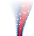 shiny american flag design vector image