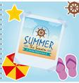 Summer vacation photo vector image
