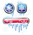 winter buttons vector image
