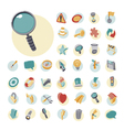 icons vintage set flat user interface vector image