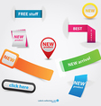 new colection label vector image