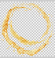 water splashes in the form of a half ring vector image vector image